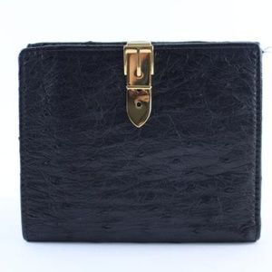 Ostrich Bifold Square Wallet 227995